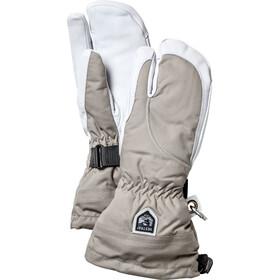 Hestra Heli Ski Handschoenen Dames, khaki/off-white